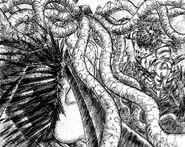 Guts destruye el cuerpo de entrañas de Slan