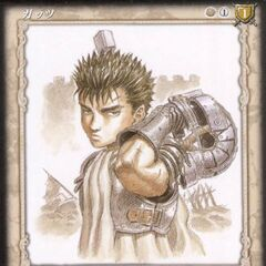 A young Guts holds his helmet behind him. (Vol 2 - no. 3)