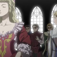 Serpico and Farnese at a royal ball.
