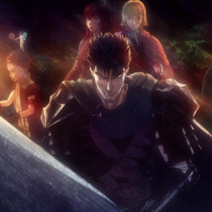 Guts and the others prepare to fight through the demonic forest.