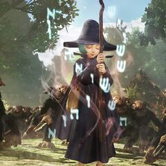 Schierke using a spell amongst a crowd of <a href=