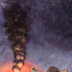 Guts gazes at the stars.