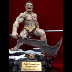 Zodd human form statue made of polystone released by Art of War.