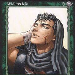 Guts sees the sun rise for the first time in three days, exhausted after fighting spirits. (Vol 2 - no. 24)