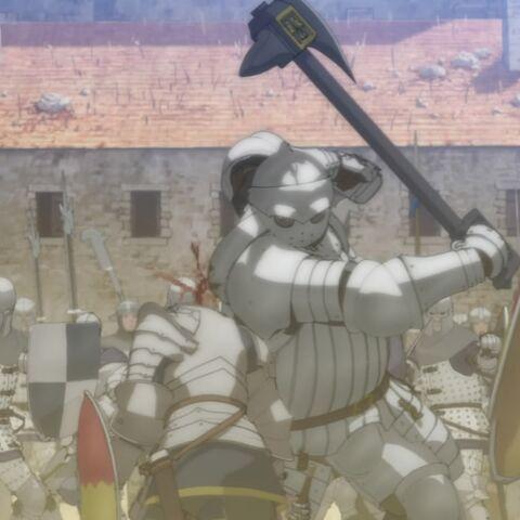 Bazuso slays an enemy mercenary.