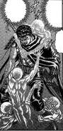 Espíritus intentan poseer a Guts para vengarse del Conde.