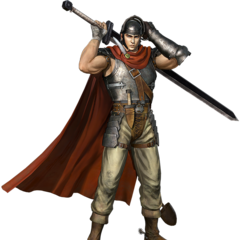 A render of Guts as a mercenary.