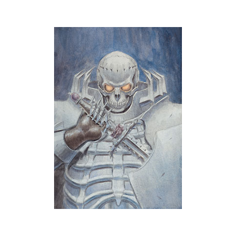 The Skull Knight holds his Sword of Thorns.