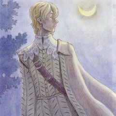 Serpico in noble attire, looking away into the night.