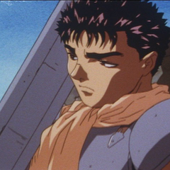 After departing from the Band of the Falcon, Guts collects his thoughts.