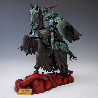 Skull Knight on horseback dark green version statue released by Art of War.