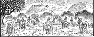 Tumbas en el pueblo de Jill