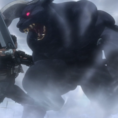 Guts prepares to battle the transformed Zodd.