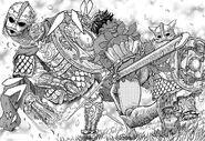 Casca lucha contra los golems vikingos