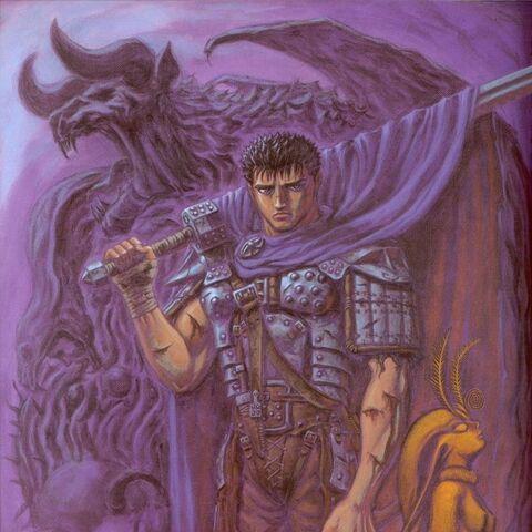 Guts surrounded by the Count and <a href=