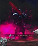 Caballero de la Calavera usando Espada de Resonancia (colaboración D2 Shin MegaTen)