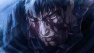 Guts tras usar Berserker por segunda vez (anime)