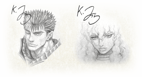 Musou Guts Griffith Sketch