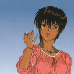 Extra art of Casca stood in a body of water for the 1997 anime.