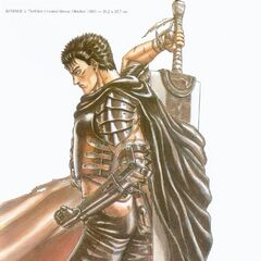Guts cape flows around the Dragon Slayer.