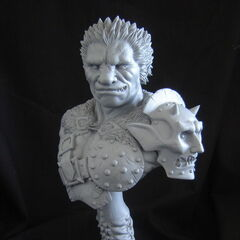 Zodd human form bust released by Narin.