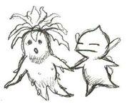 Mandrágora y Puck (boceto)