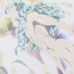 Griffith resurrected in a new, corporal body.