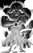 Zodd se transforma frente a Guts