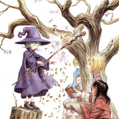 Puck and Ivalera fly through the leaves Schierke is using to demonstrate magic to <a href=