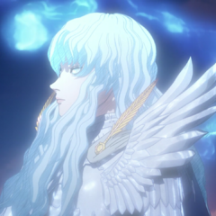 Griffith communing with the fallen spirits of his men.