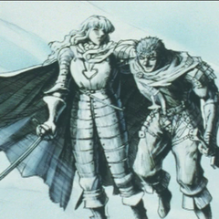 Griffith recalling Guts' friendship.