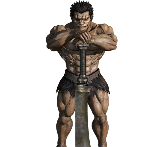 A render of Zodd in his human form.