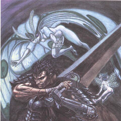 Guts fights against Rosine.