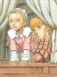 Rickert and Erica in a cart