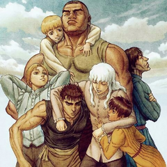 Art of Guts together with Griffith, Casca, Judeau, Pippin, Rickert, and Corkus by character designer/animation director <a rel=