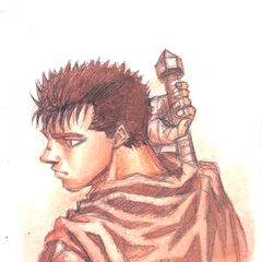 Guts reaches for his sword.