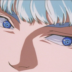 Griffith's sinister eyes.