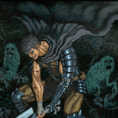 Guts surrounded by demons.