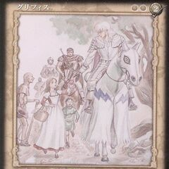 Guts watches young children admire Griffith. (Vol 5 - promotional card 1)
