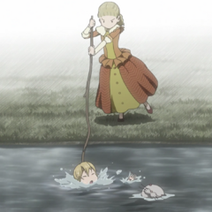 Farnese playing with Serpico.