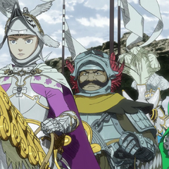 Farnese with her comrades escorting <a href=