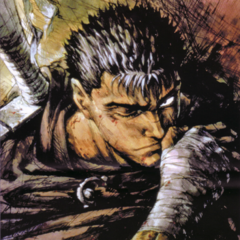 Promotional art of Guts with his <a href=