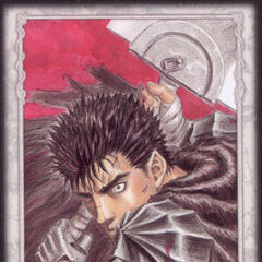 Guts ready to attack with the Dragon Slayer. (Secret card 3)