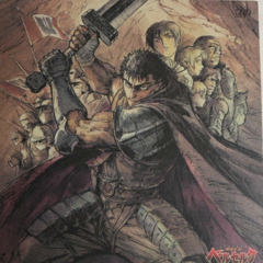 Promotional art of Guts with Casca, <a href=