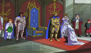 Griffith es nombrado caballero (anime 1997)