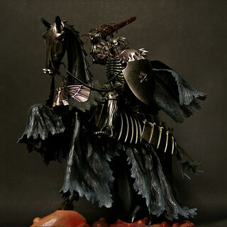 Skull Knight on horseback black version statue released by Art of War.