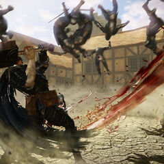 Guts using slicing action in a gameplay screenshot.