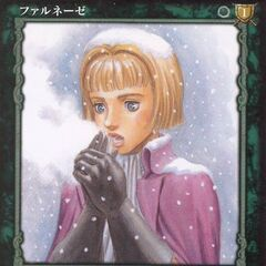 Farnese warms her hands, covered in snow. (Vol 1 - no. 50)
