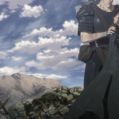 Guts comforting Casca after the Tower of Conviction's destruction.