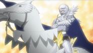Griffith con armadura y caballo (anime 2016)